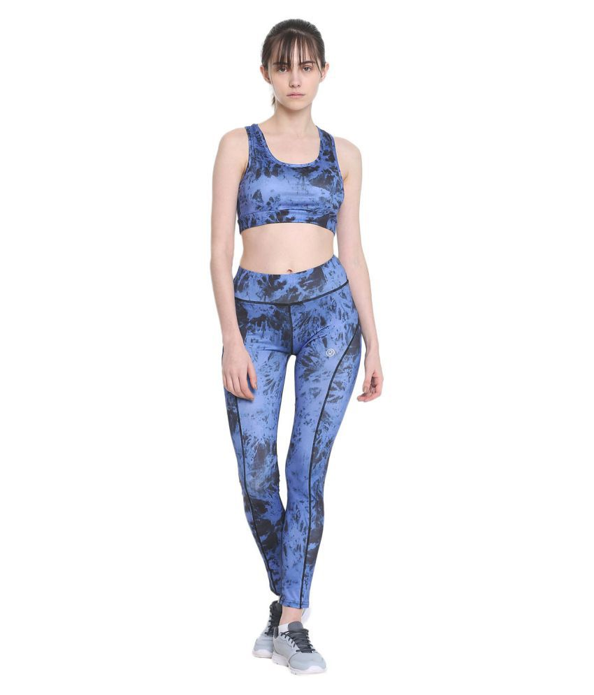 CHKOKKO Women's Polyester Printed Slim Fit High Waist Sports Gym Tights Yoga Pant and Legging
