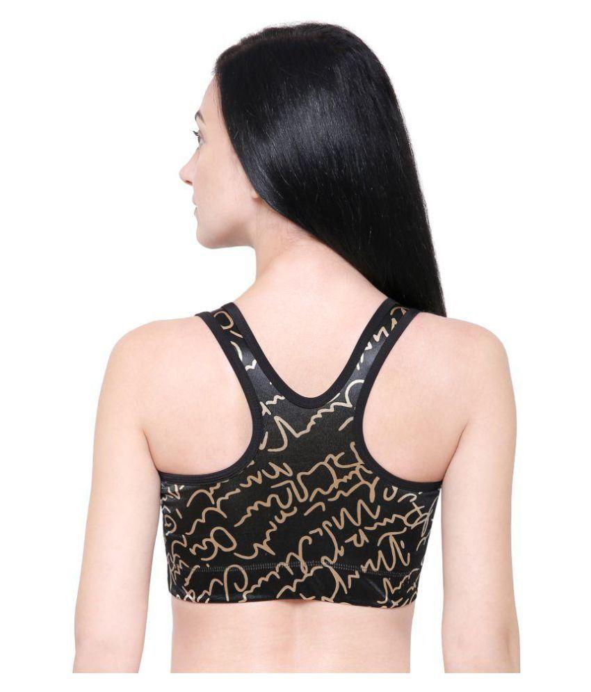 W2W Women Nylon Zipper Padded Sports Bra (Multi Color)