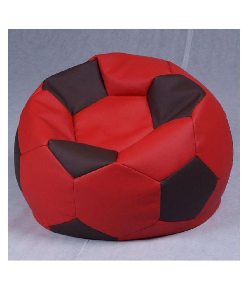 Beanbag Stretchable Comfortable Sport Leather Bean Bag Sofa Chair Football  Bean Bag Sofa Living Room Gaming Sofa Armchair Relaxing Beanbag Cover King  ...