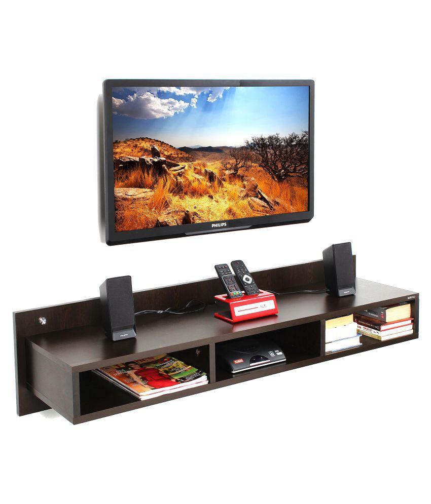 Bluewud Reynold TV Entertainment Unit/Wall Set Top Box Stand Shelf (Large, Wenge)
