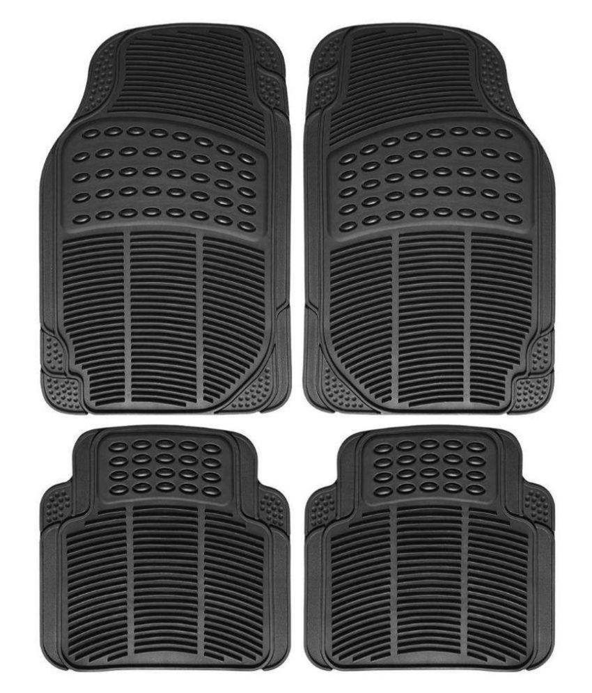 Ek Retail Shop Car Floor Mats (Black) Set of 4 for HondaBrioVX