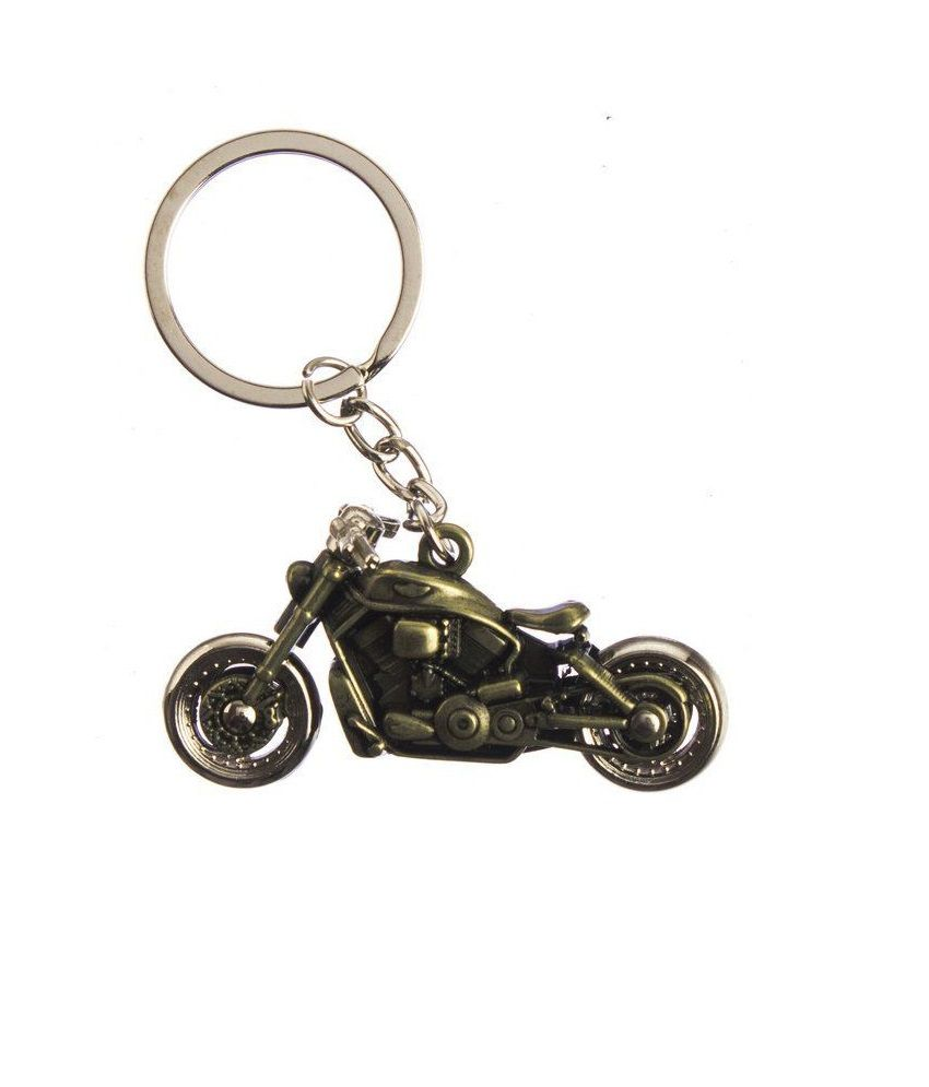 cf1cd97a4703c Techpro Golden Colour Bike Key chain (Metal) with Harley Davidson Design   Buy Online at Low Price in India - Snapdeal