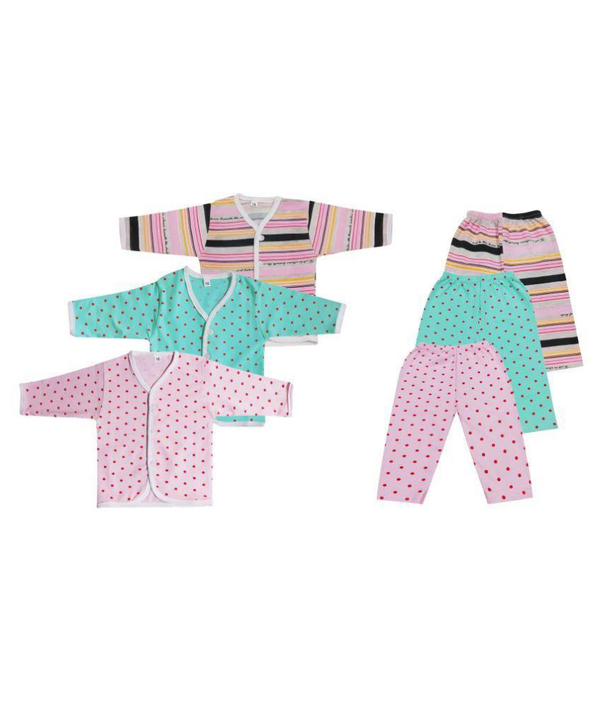 896e376ef6a8 Baby Comforts Infant Wear Printed Multi Color Casual Cotton Round ...