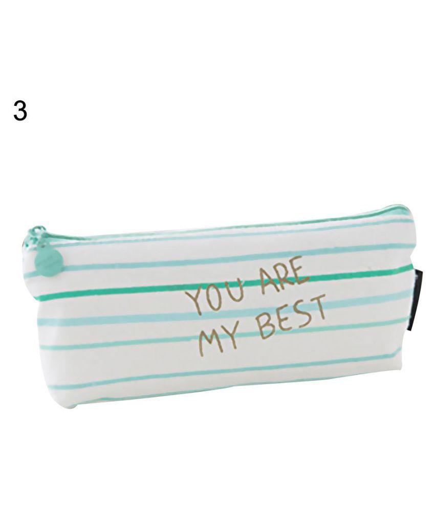 Fresh Style Mini Polka Dot Canvas Pencil Bag Stationery Storage Organizer Pouch