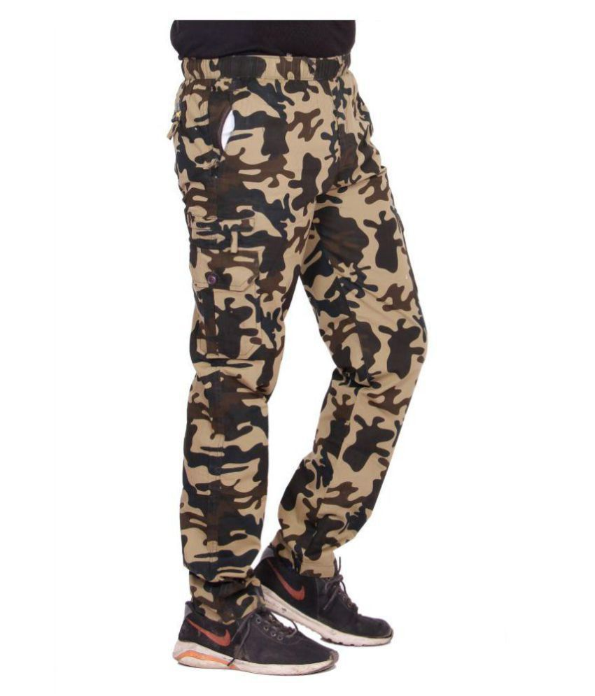 Kuber Industries Cotton Pajama Military Print Cargo Lower Track pant for men  (Multi)