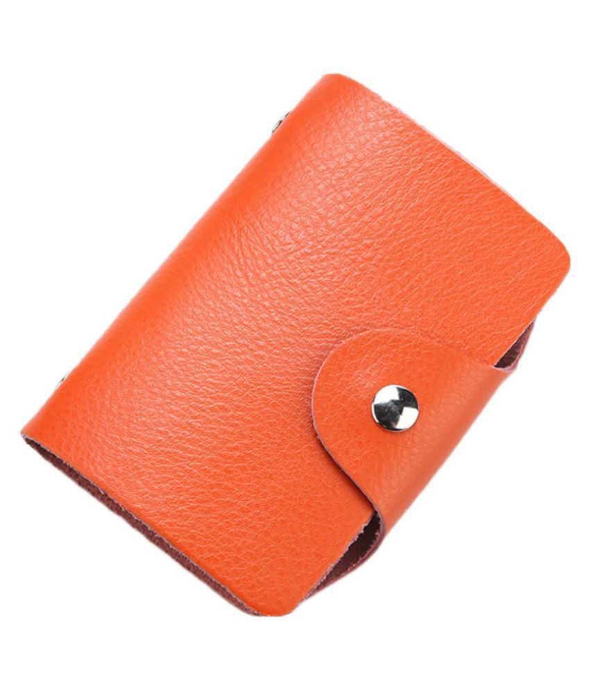26 Slots Genuine Leather Business ID Credit Card Holder Case Unisex Bag Pouch