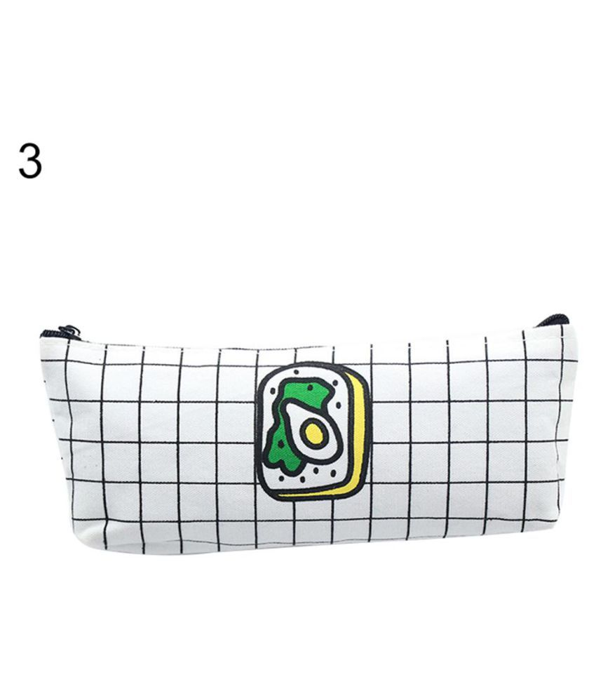 Creative Cute Food Pencil Bag Canvas Pen Storage Case Stationery Student Gift