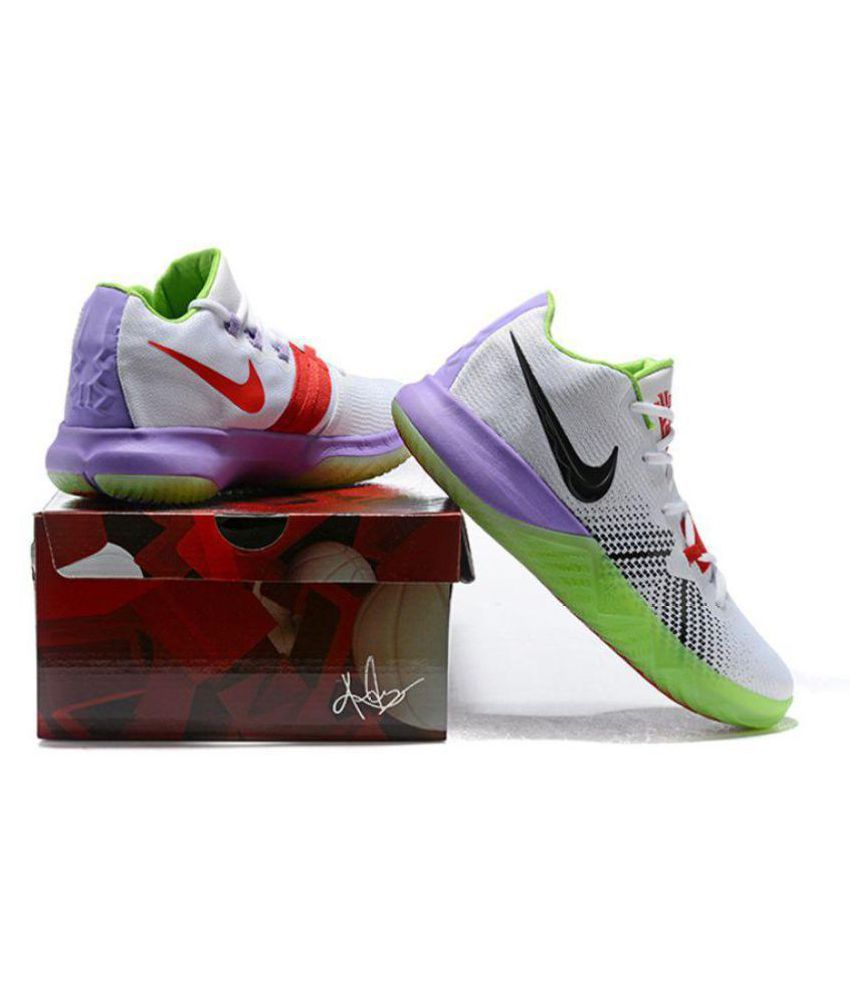 a3ea1419e666 Nike Nike Kyrie Flytrap White Purple Midankle Male White  Buy Online at  Best Price on Snapdeal