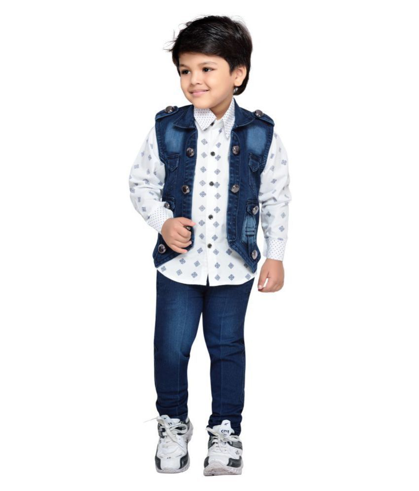 48d2a3cdc85a AJ Dezines Kids Party Wear Shirt Jeans and Jacket Clothing Set for Boys ...