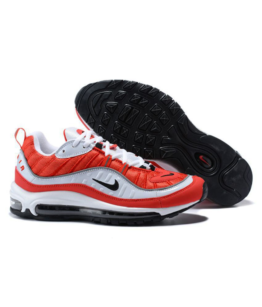 official photos 7cfbb d9c14 Nike Air Max 98 Running Shoes Red For Gym Wear