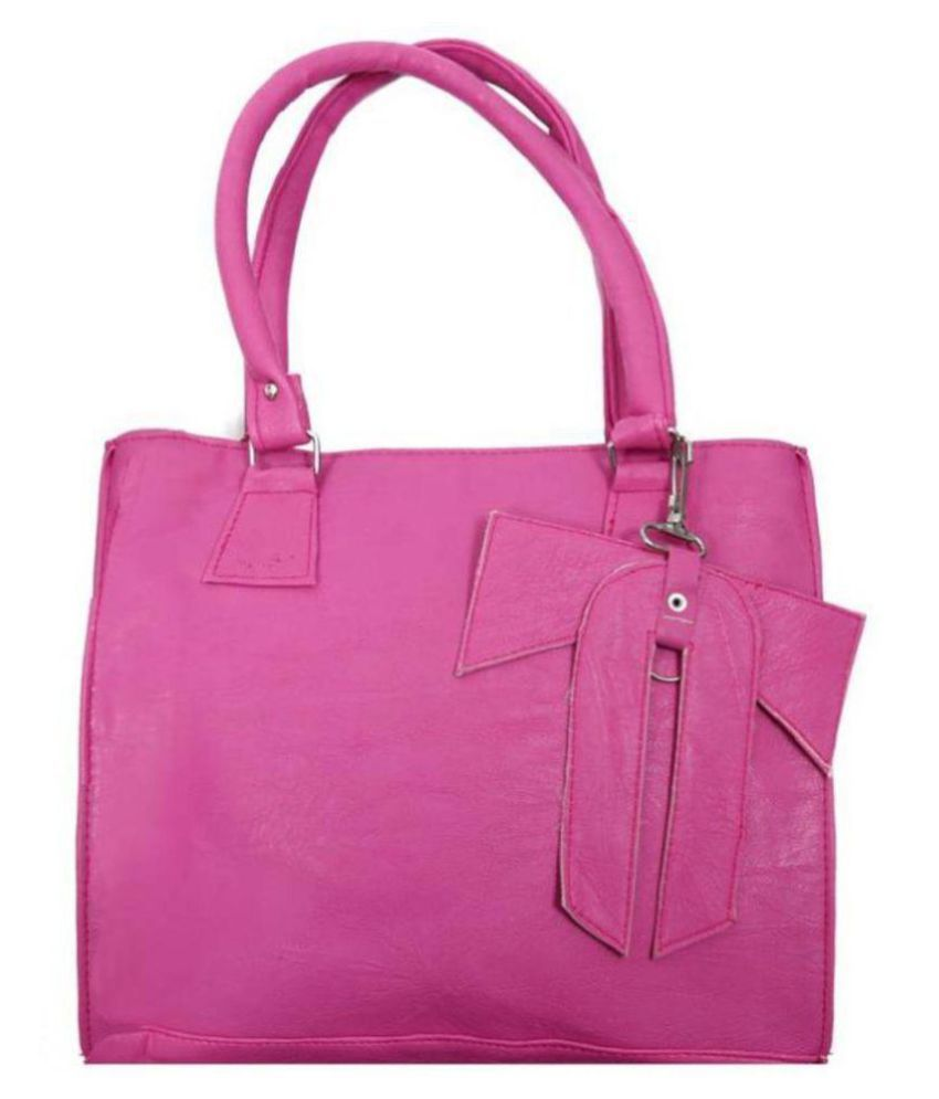 Parrk Pink P.U. Shoulder Bag