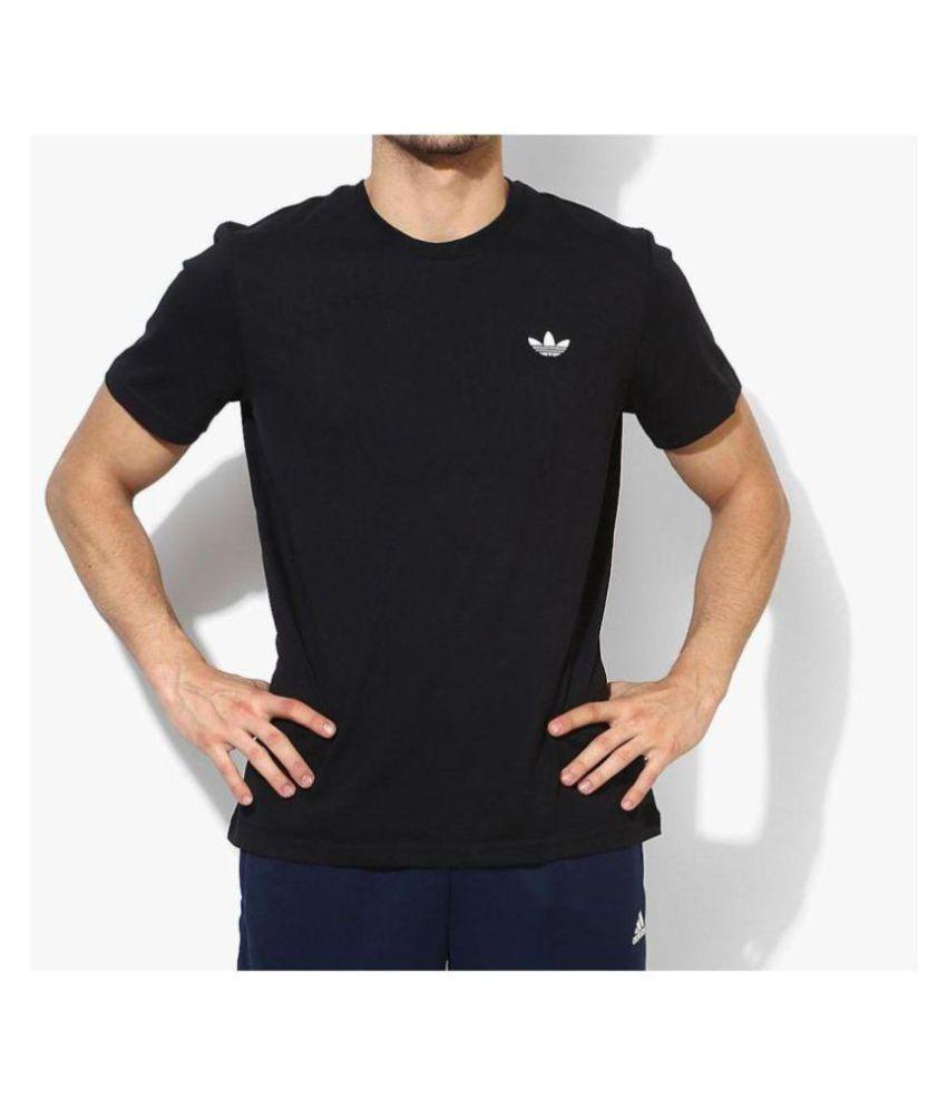 Adidas Orignals Black Half Sleeve T-Shirt For Gym Wear