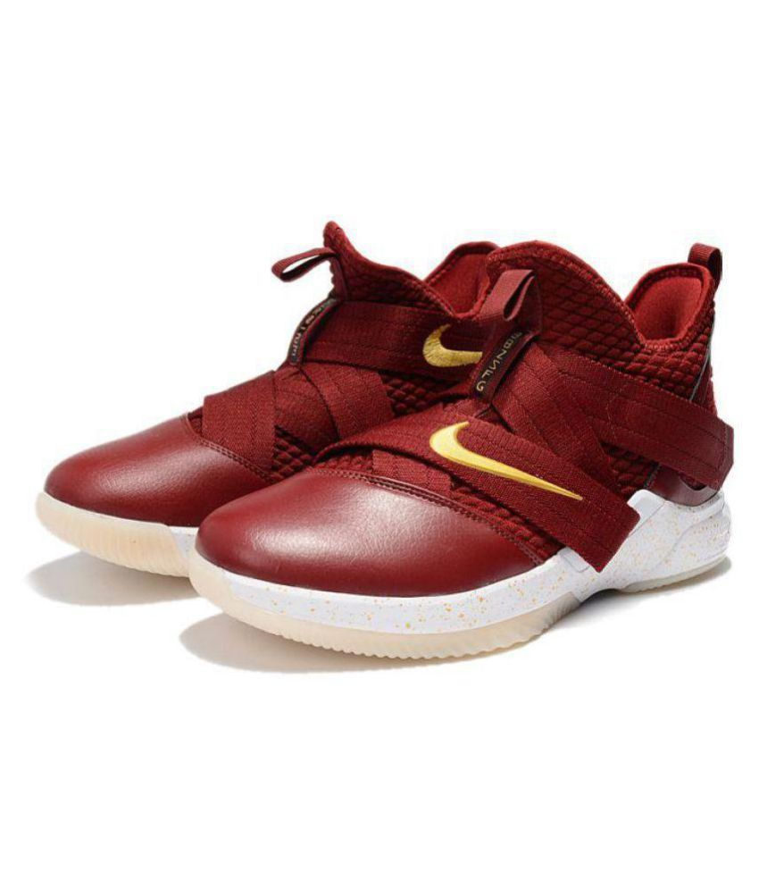 outlet store ccffa b3d58 Nike LeBron Soldier 12 Midankle Male Red