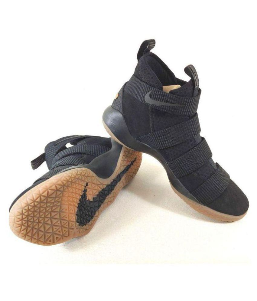 38f4496c068 Nike Lebron Soldier 11 Black Midankle Male Black  Buy Online at Best Price  on Snapdeal