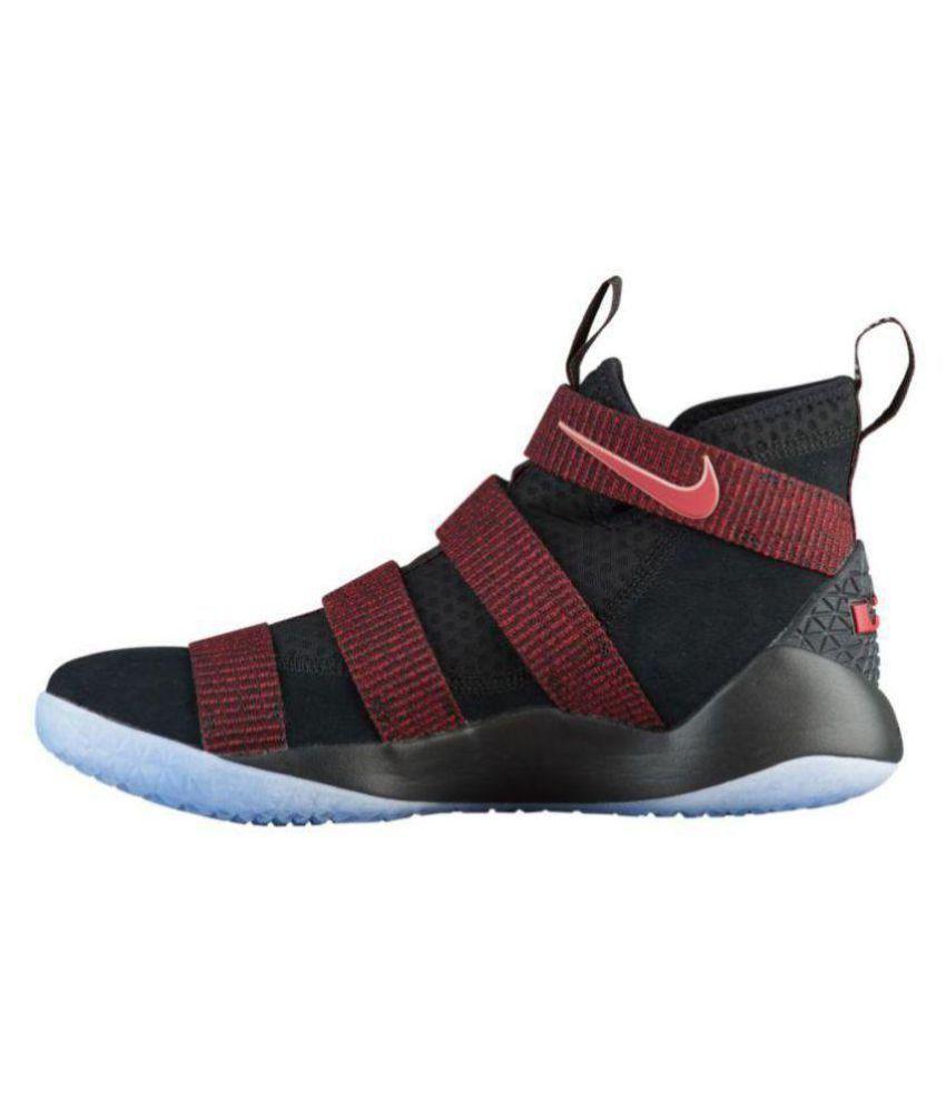 best service c0dd8 ab821 Nike Lebron Soldier 11 Black Maroon Midankle Male Black