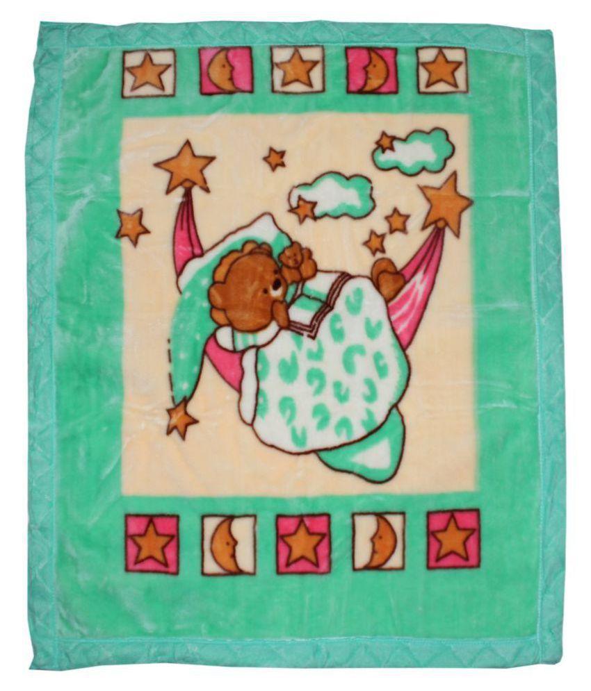 Goodluck Multi Colour Fleece Baby Blanket   80 cm × 110 cm  1 pcs