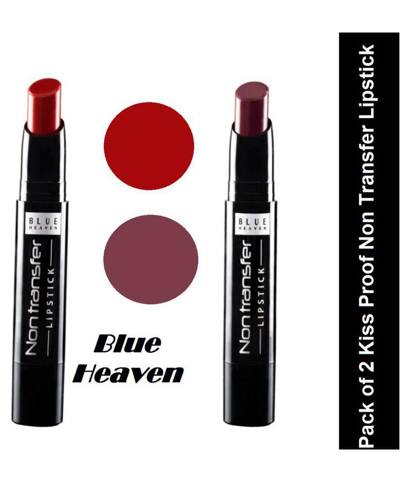 Blue Heaven Cosmetics Lipstick Exotic Red & Smoked Velvet 2.7 gm
