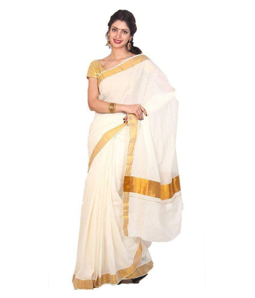 628023e737 Fashionkiosks White Cotton Saree - Buy Fashionkiosks White Cotton Saree  Online at Low Price - Snapdeal.com