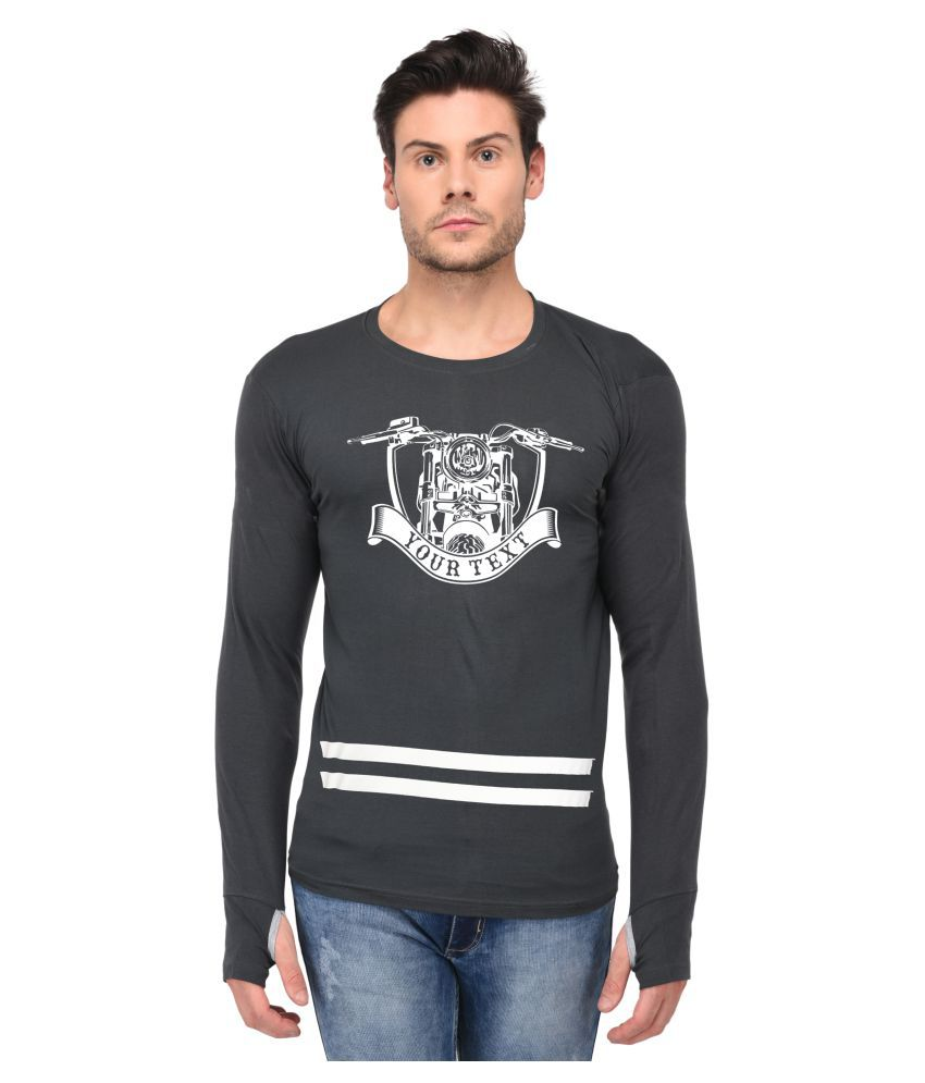 Trends Tower Grey Full Sleeve T-Shirt