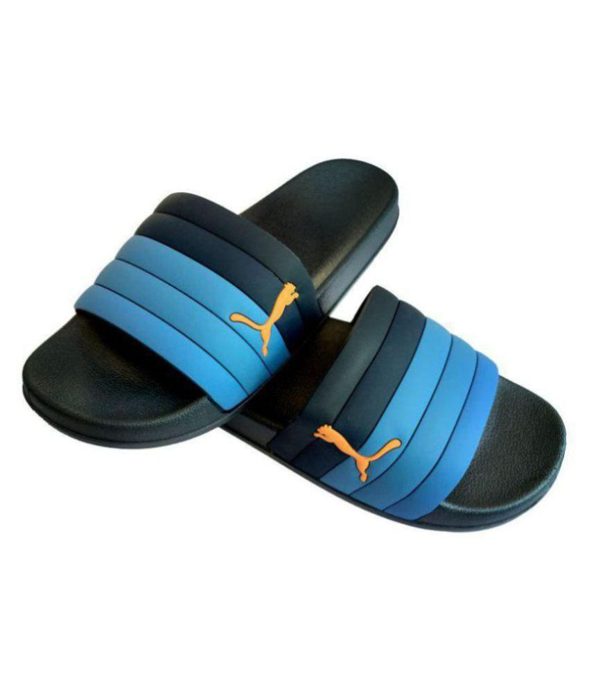 8ccb003972c9 Puma Blue Slide Flip flop Price in India- Buy Puma Blue Slide Flip flop  Online at Snapdeal