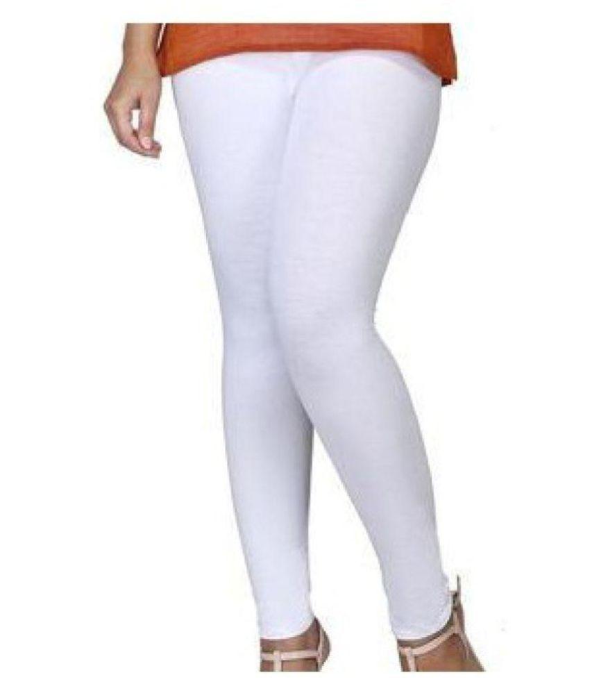 Respect Women Cotton Lycra Jeggings - White