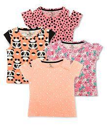 062b3d34aa7b3 Quick View. Aatu Kutty Girls Casual Cotton Round Neck Tshirt - Pack ...