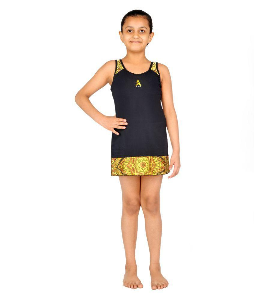 Aline Girls Printed sleeveless Swimwear