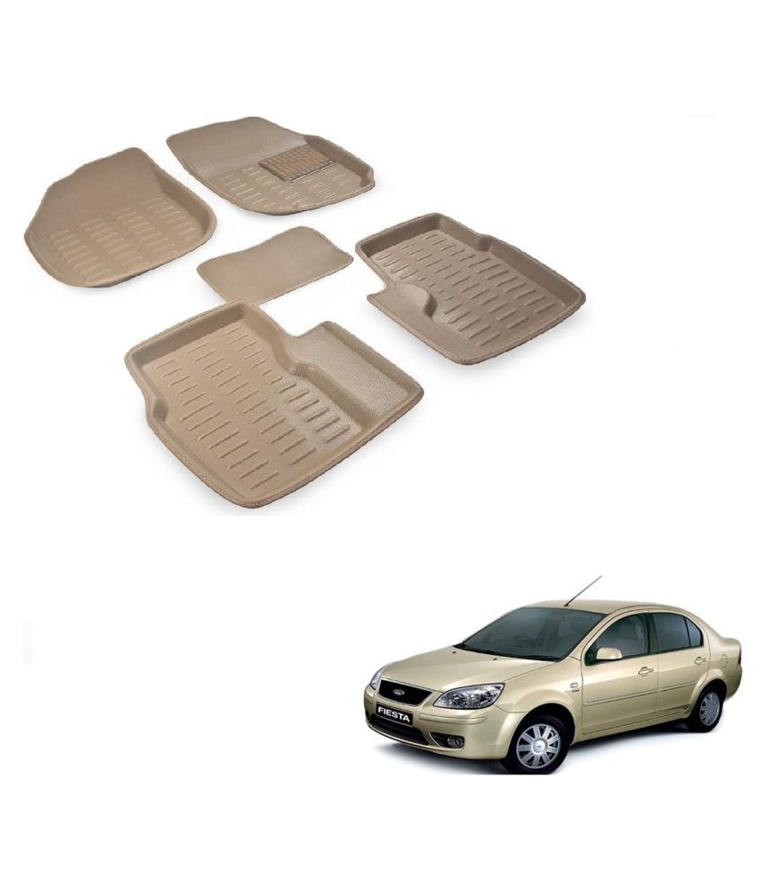 Auto Addict Car 3D Mats Foot mat Beige Color for Ford Fiesta old