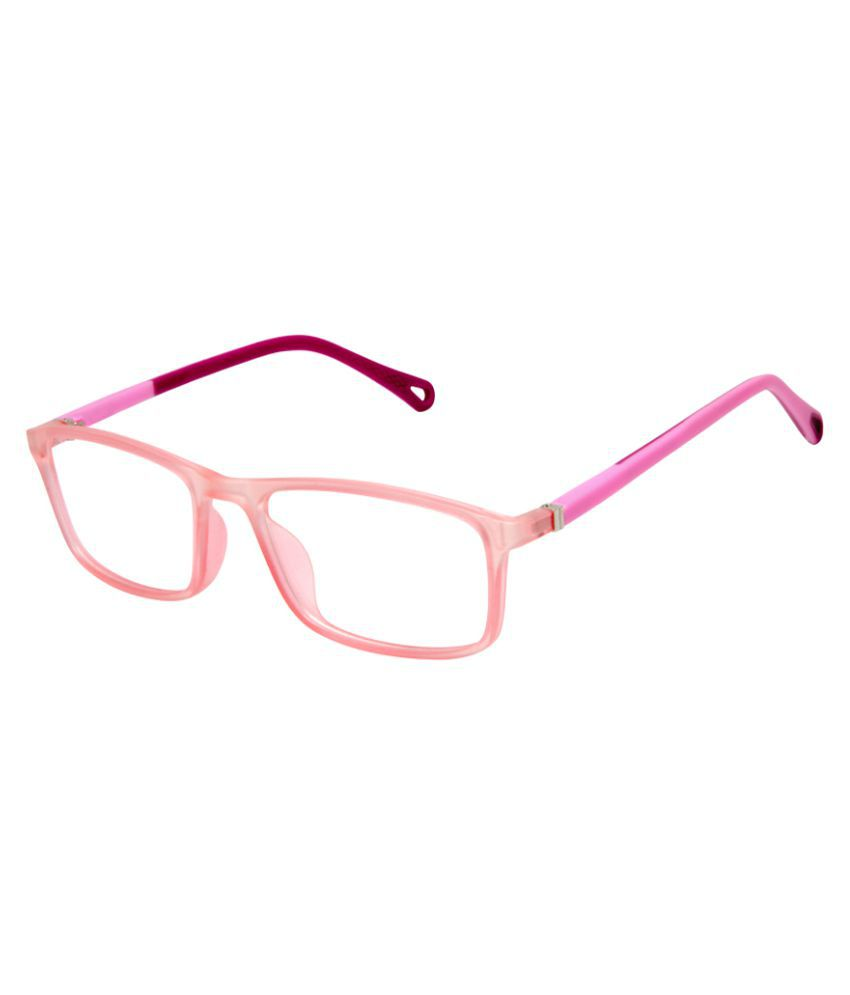 Cardon Pink Rectangular Full Rim EyeFrame for Kids