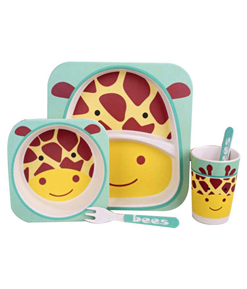 EZ Life Kids - Giraffe Fibre Bamboo Dinner Set of 5 Pieces