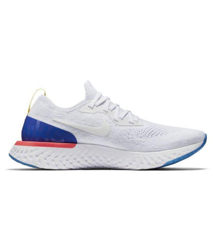 99eb36e784d97 Nike 2018 Epic React Flyknit White Running Shoes - Buy Nike 2018 ...