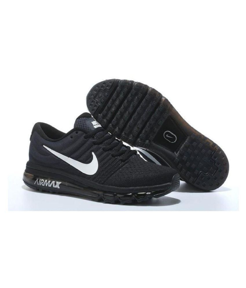 San Francisco e35f3 d001c Nike AIR MAX 2017 Black Running Shoes