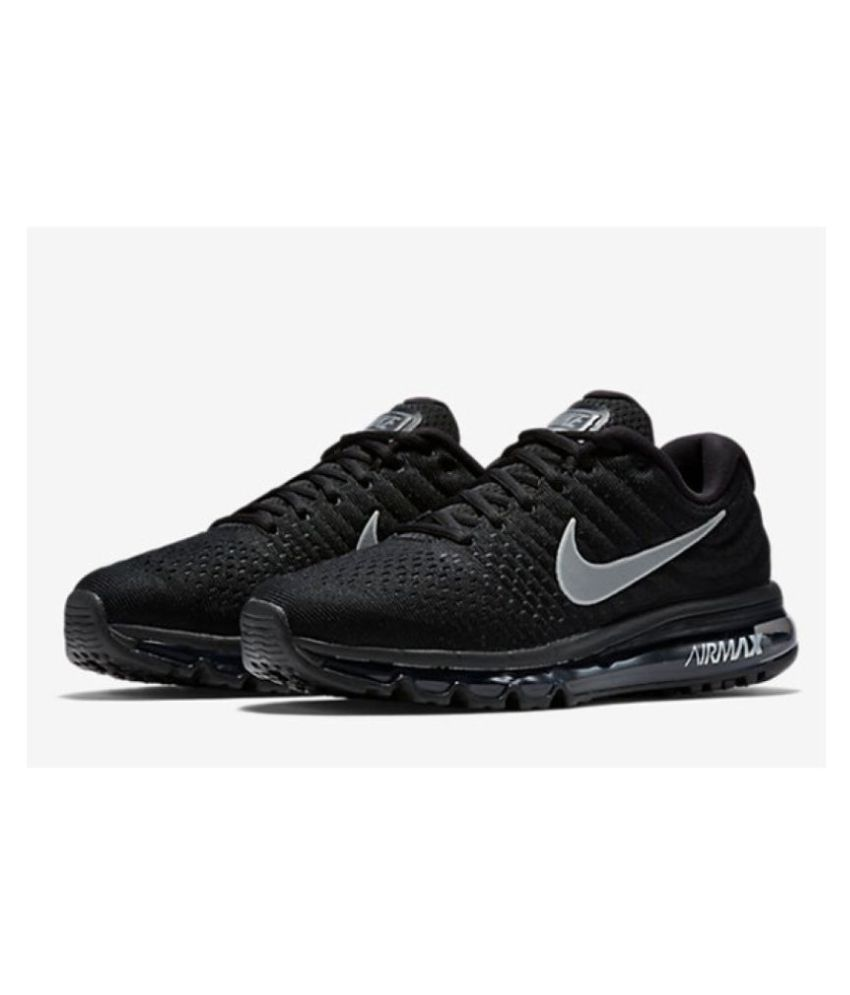 cfa1555cff20d Nike Air Max 2017 Black Running Shoes - Buy Nike Air Max 2017 Black ...