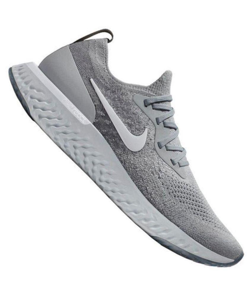 7568166bbd0b Nike Epic React Flyknit Grey Running Shoes - Buy Nike Epic React ...