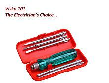 Visko Tools 101 Screwdriver Kit (Red, 6-Pieces)