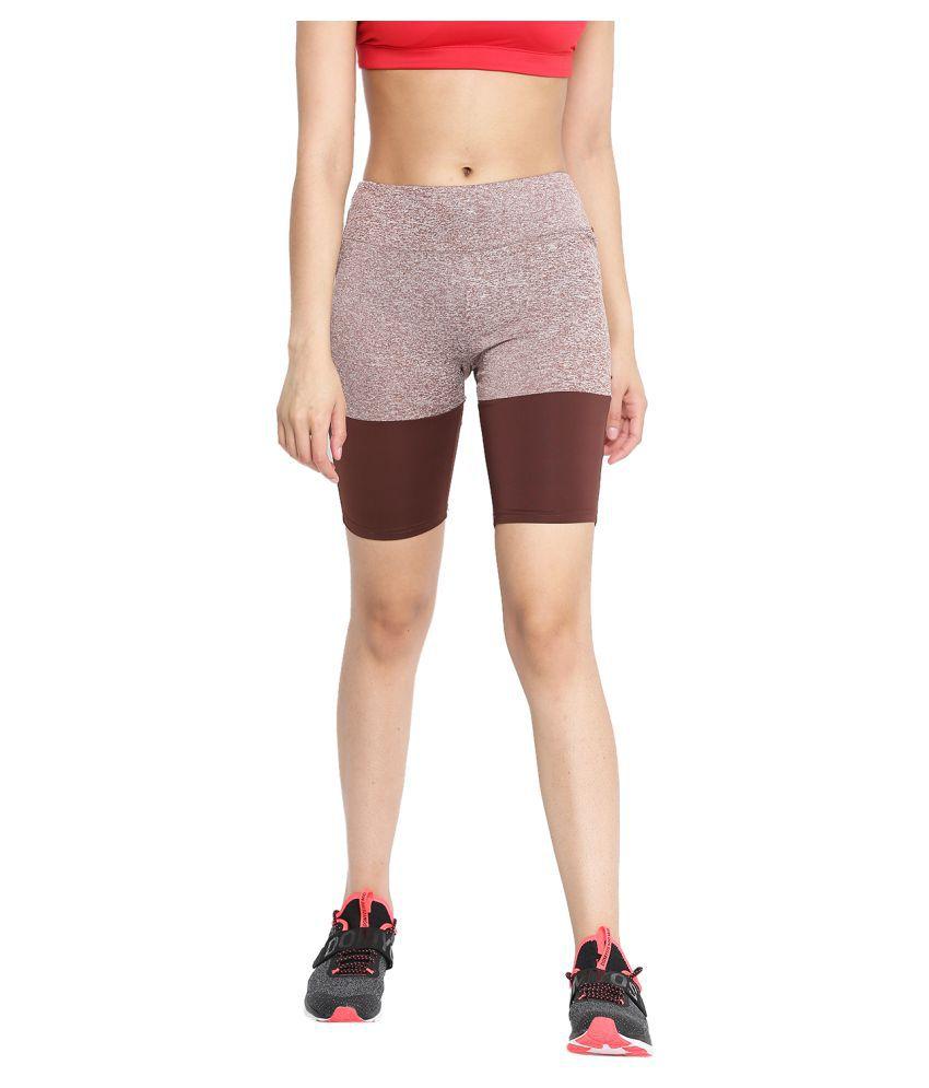 CHKOKKO Women's Sports Gym and Stretchable Yoga Shorts Magenta Black Gym Wear Women/Tight Women/Yoga Dress