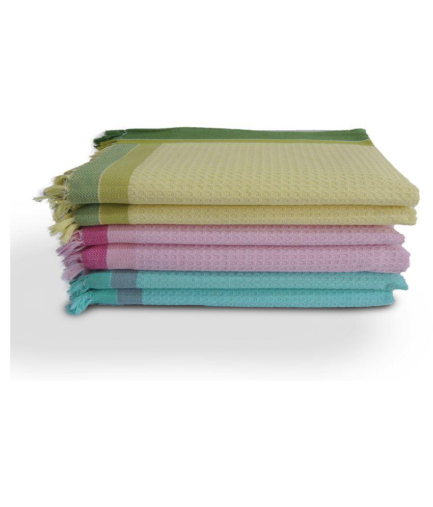 Athom Trendz Set of 6 Cotton Bath Towel Multi