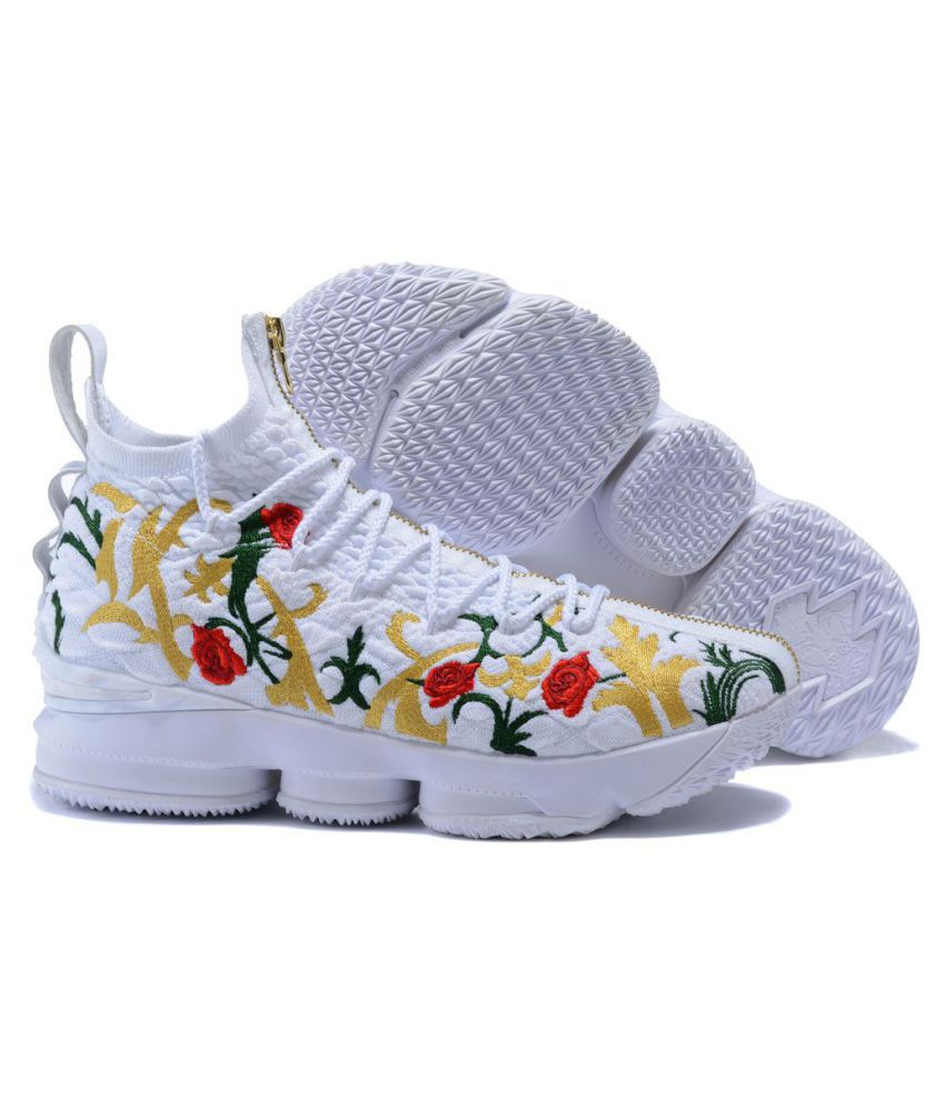 "buy online 6a479 0b0c3 ... Nike LeBron 15 ""King s Crown"" 2019 White Basketball Shoes"
