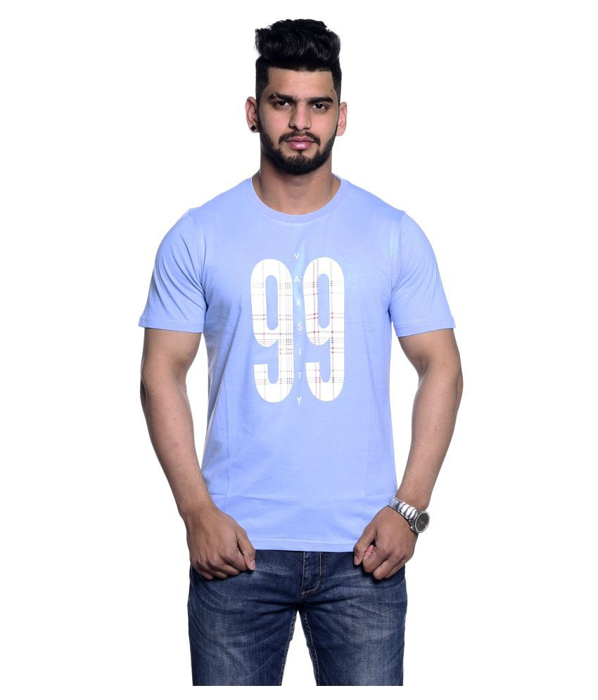 Le Bon Ton Blue Half Sleeve T-Shirt Pack of 1