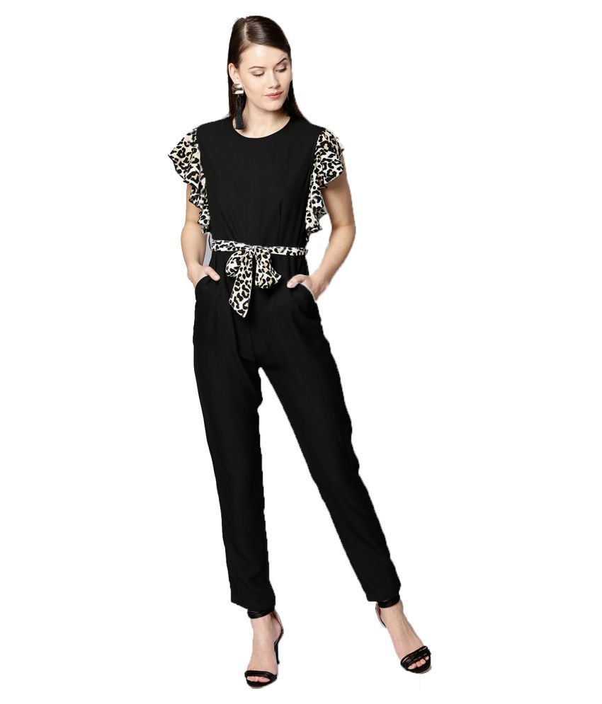 d85957a1a6b Besiva Black Polyester Jumpsuit - Buy Besiva Black Polyester Jumpsuit Online  at Best Prices in India on Snapdeal