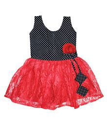 Anush Collections Self Design Cotton Dresses For Girls