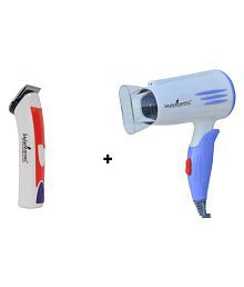 StyleManiac Combo of Rechargeable Trimmer With Hair Dryer ( Blue )