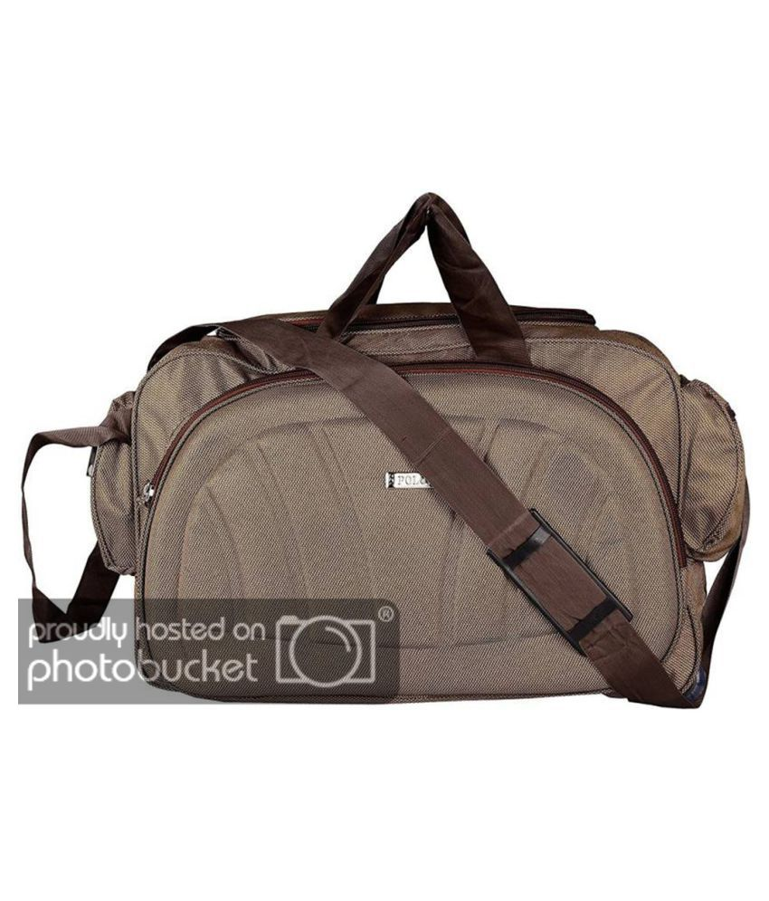 Aqeeq Brown Printed Duffle Bag