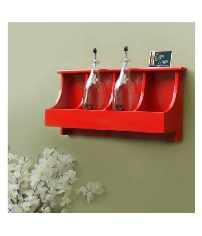 Onlineshoppee Floating Shelves Red MDF - Pack of 1