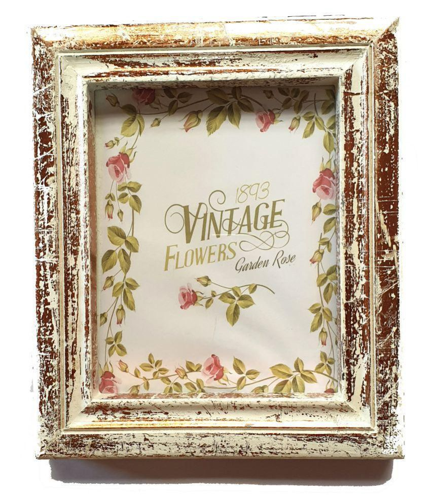 Wood Craft India Wood Table Top & Wall hanging Multicolour Single Photo Frame - Pack of 1