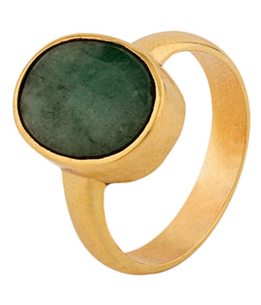 Dare by Voylla Emerald (Panna) 7.25 Ratti Ashtadhatu Rashi Ratna Ring with original Lab Test Certificate
