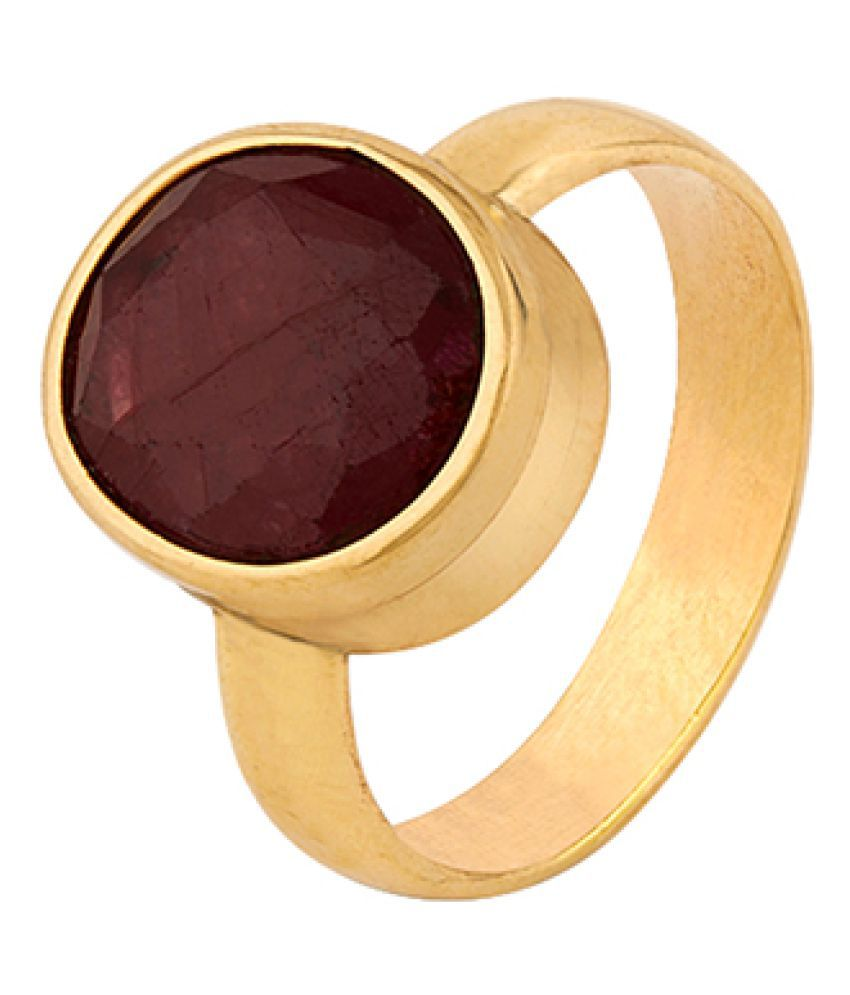 Dare by Voylla Ruby (Manik) 7.25 Ratti Ashtadhatu Rashi Ratna Ring with original Lab Test Certificate