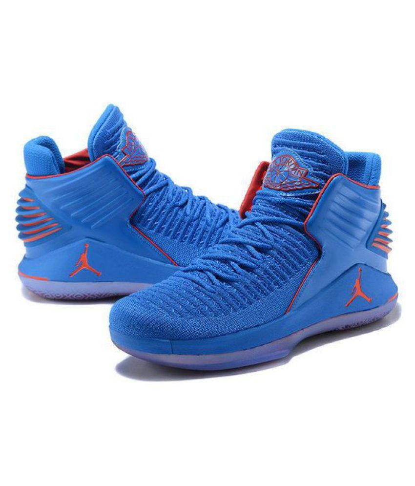 e3cc6d6957b Jordan 32 XXX11 RUSSEL WESTBROOK Blue Basketball Shoes - Buy Jordan 32  XXX11 RUSSEL WESTBROOK Blue Basketball Shoes Online at Best Prices in India  on ...