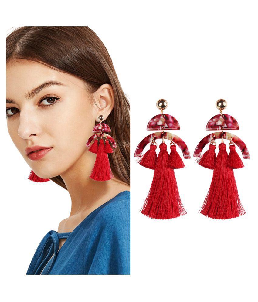 Bohemian Fashion Temperament Long Semi-Circular Tassel Earrings Fashion Jewellery