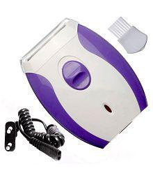 Jm Kemai 2 in 1 Epilator Ladies Washable Cordless Electric Rechargeable Shaver Trimmer Razor Epilator ( Purple & White )